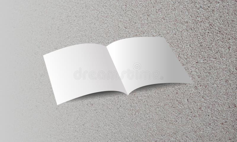 Folheto vazio no fundo textured areia Ilustração do vetor imagens de stock