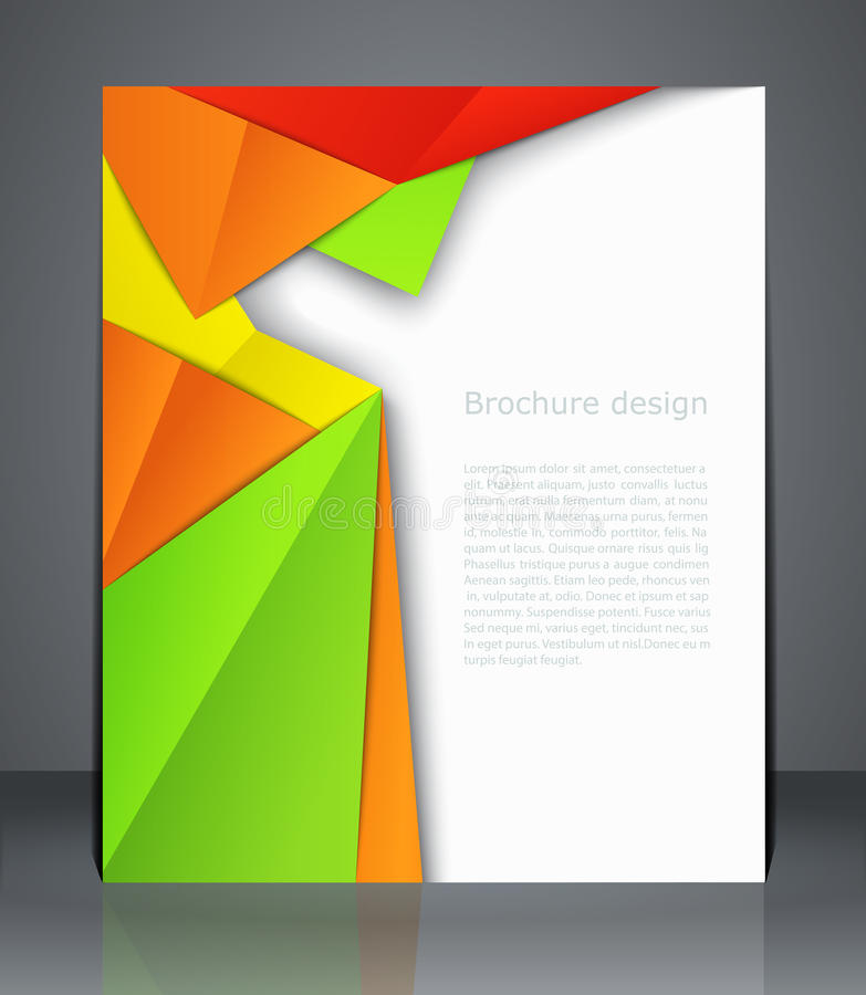 Folhetos capa de revista, inseto, ou cartaz do projeto geométrico ilustração do vetor