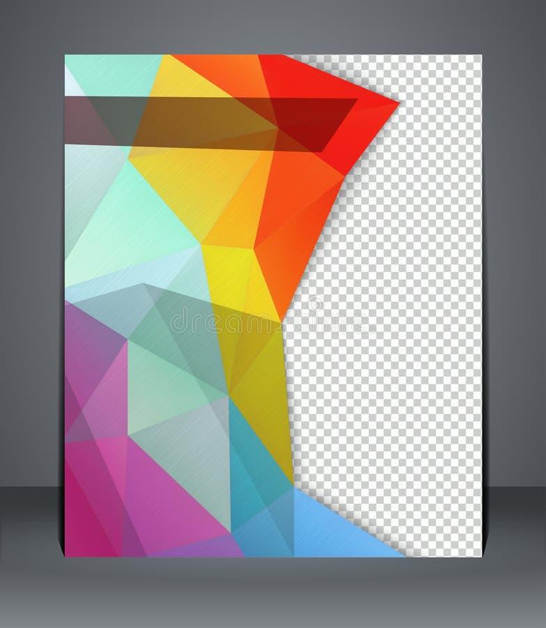 Folhetos capa de revista, inseto, ou cartaz do projeto geométrico ilustração royalty free