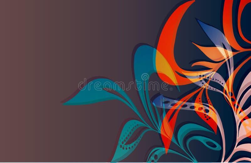 Foliage_1 scorrente illustrazione vettoriale
