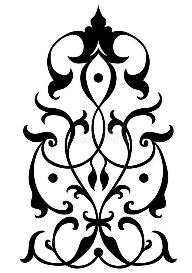 Foliage design. Stylish swirl foliage design; line art ilustration royalty free illustration