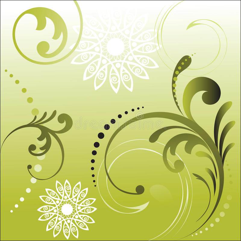 Download Foliage with flower shapes stock vector. Image of decoration - 10431677