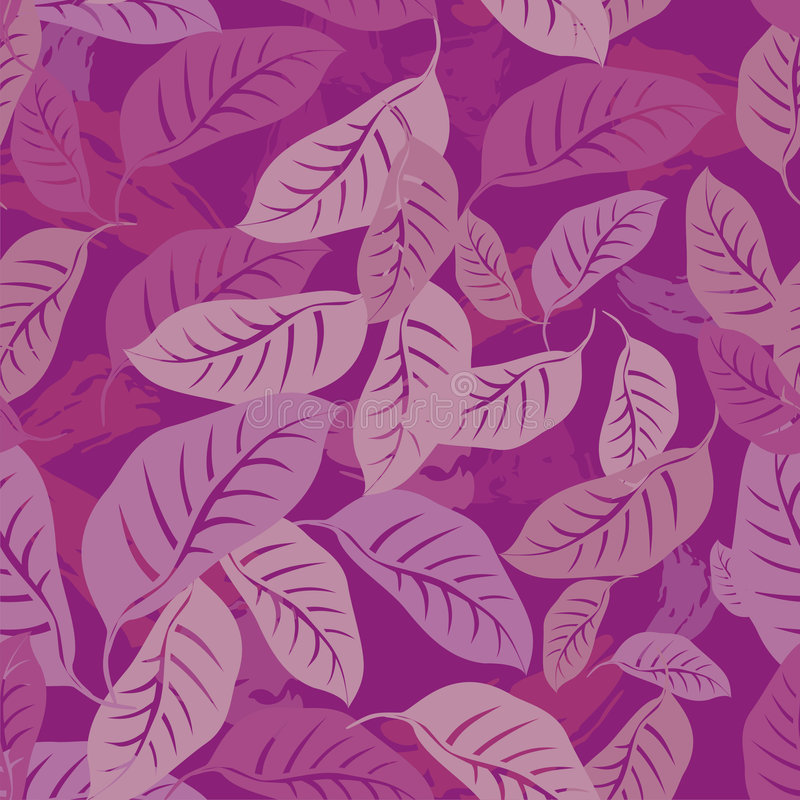 Foliage seamless pattern stock illustration
