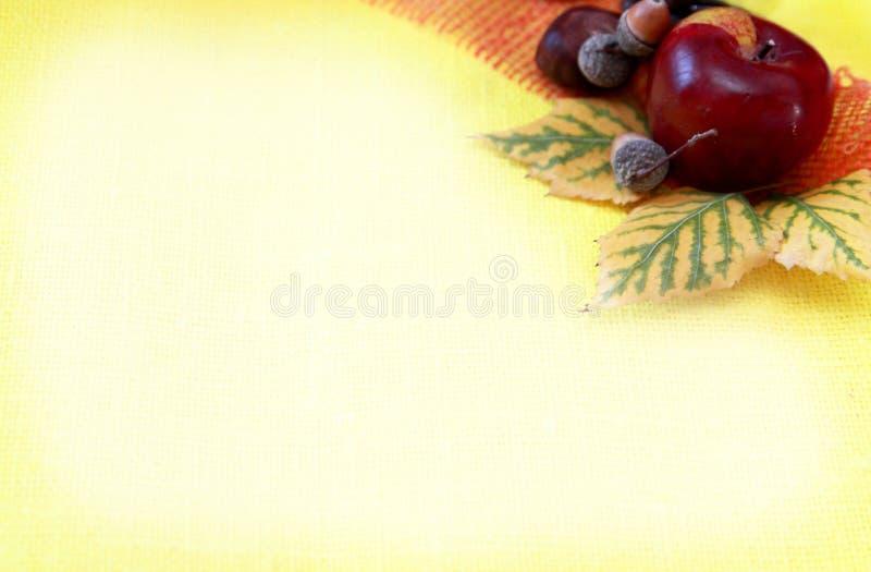 Foliagel-Herbsthintergrund stockfoto