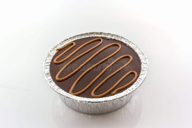 Foliedoos van Chocoladecake royalty-vrije stock foto