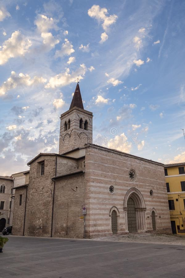 Foligno Perugia, Italië stock foto