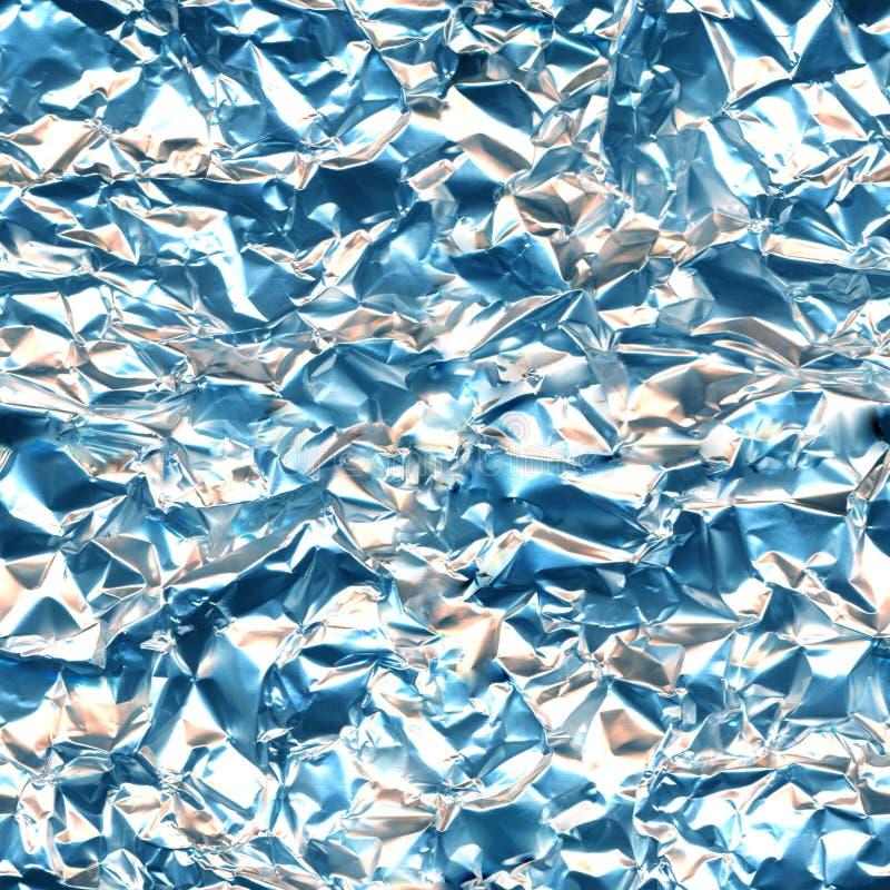 Foliowego aluminium srebra błękita światła bezszwowa tekstura, delikatnego pomarańczowego błękita wzoru miękki multicolor tło zdjęcia stock