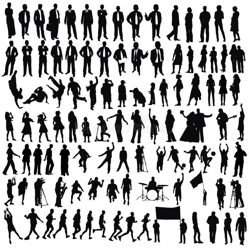 folk vektor illustrationer