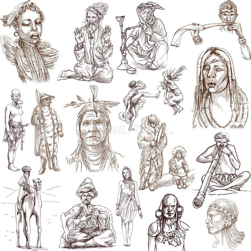 Folk 1 royaltyfri illustrationer