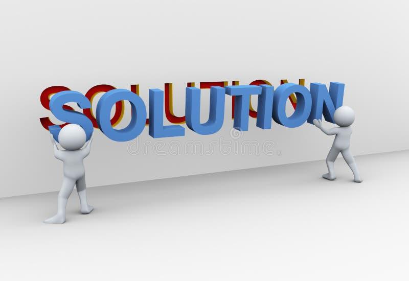 folk 3d och lösning stock illustrationer