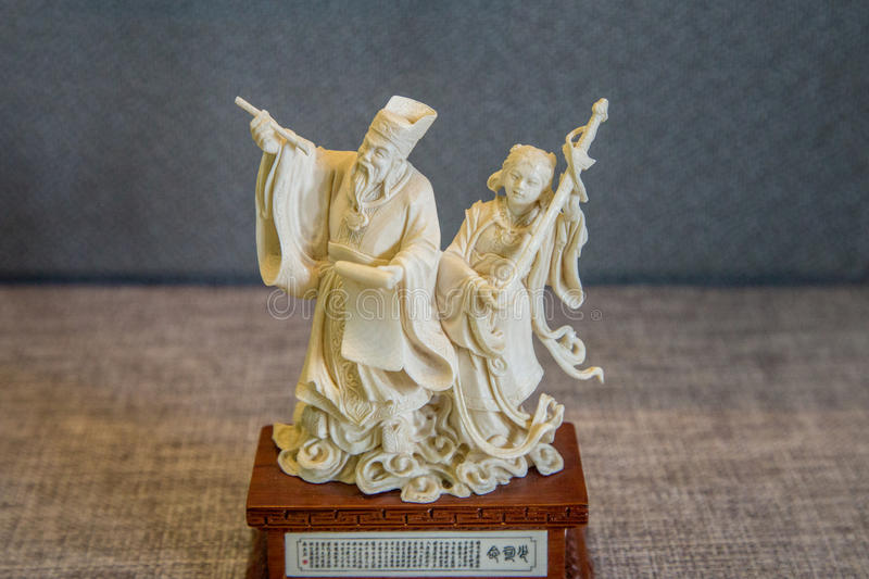 Folk art carved out of ivory. Chen Jia CI Tang and Chen Academy said. Built in the fourteen years of the Qing Dynasty 1888, it was built jointly by the seventy stock images