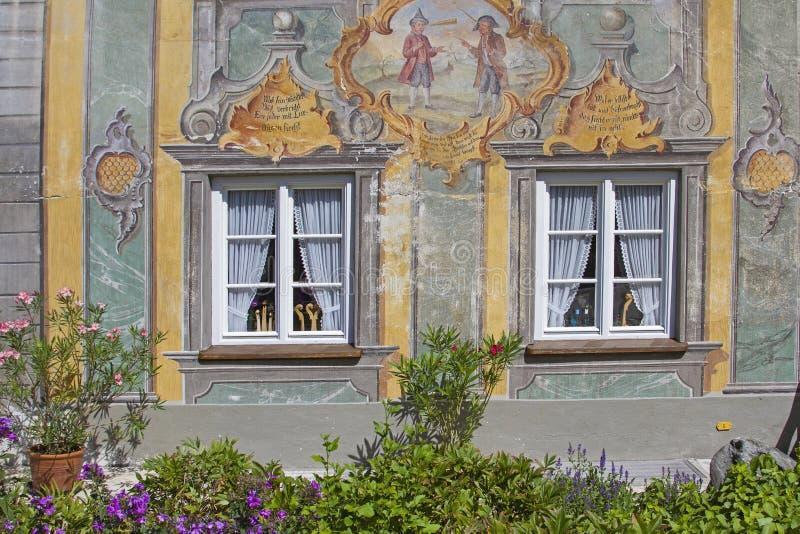 Folk art detail in Mittenwald stock photos