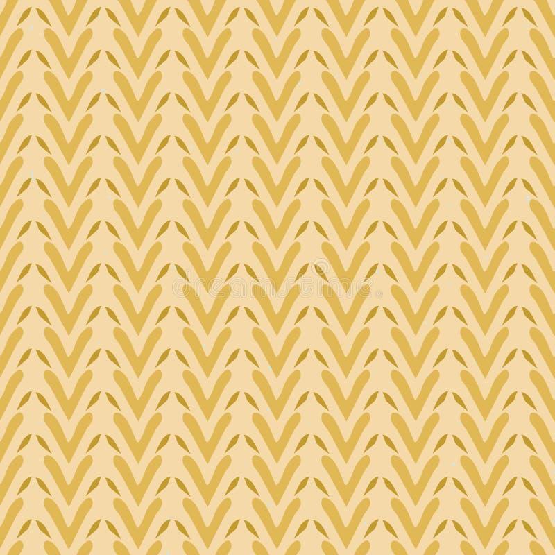 Folk Art Heart Weave Stripes Texture sömlös vektormodell Naturliga Boho stock illustrationer
