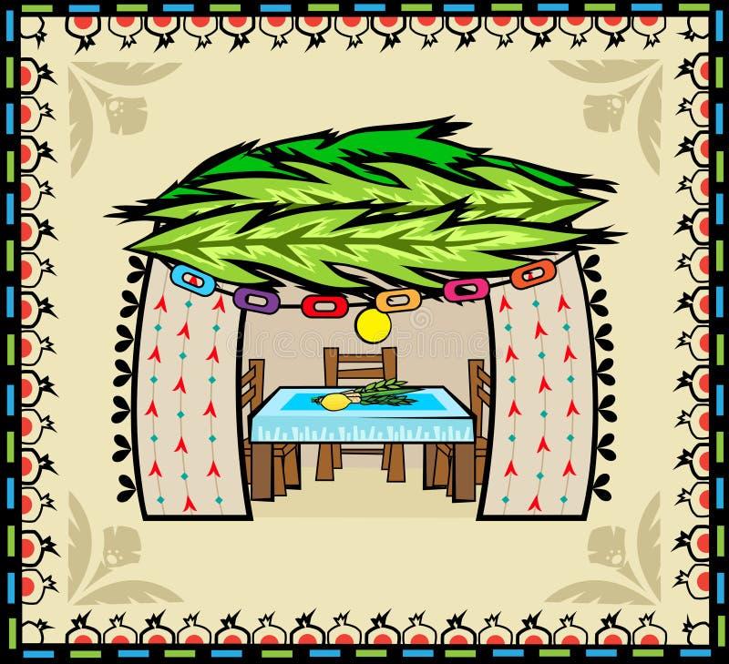 Folk Art Sukkah vektor illustrationer