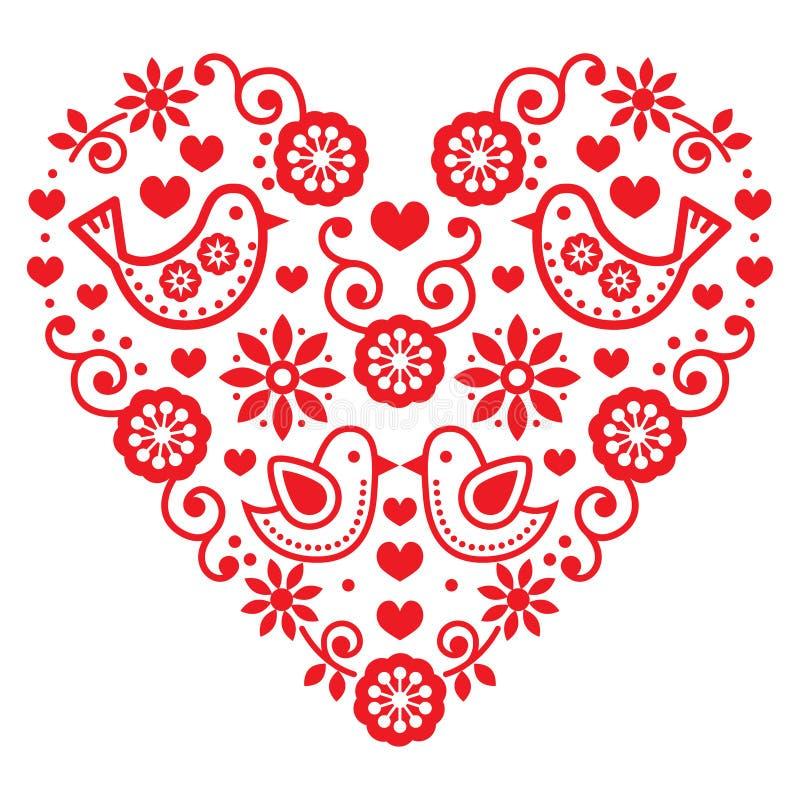Free Folk Art Valentine S Day Heart - Love, Wedding, Birthday Greetings Card Royalty Free Stock Photography - 71368777
