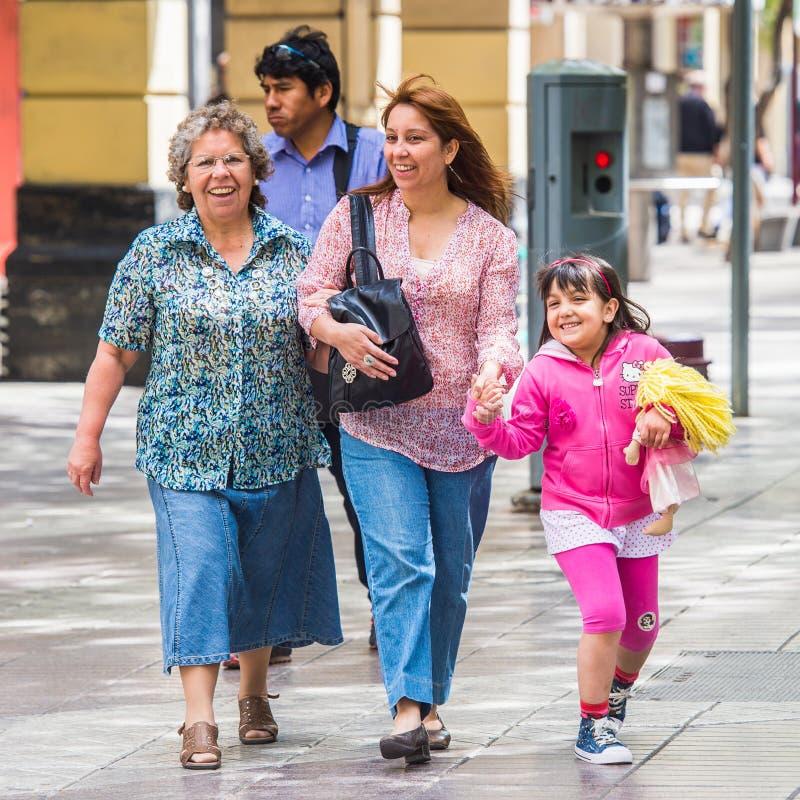 Folk av Chile royaltyfri foto