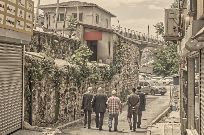 Folk av istanbul arkivbild