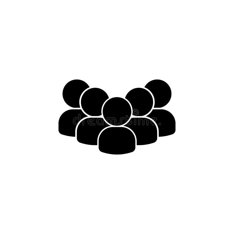 folk avatars, lagsymbol Beståndsdel av en grupp människorsymbol Högvärdig kvalitets- symbol för grafisk design tecken och symbols stock illustrationer