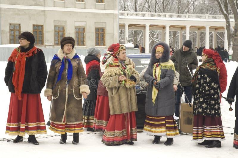 Folk chorus collective stock photos