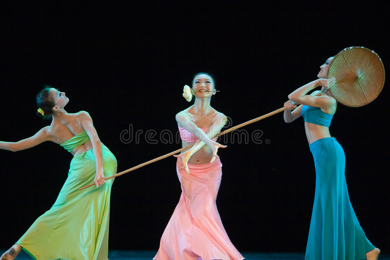 Folk dance of chinese royalty free stock photos