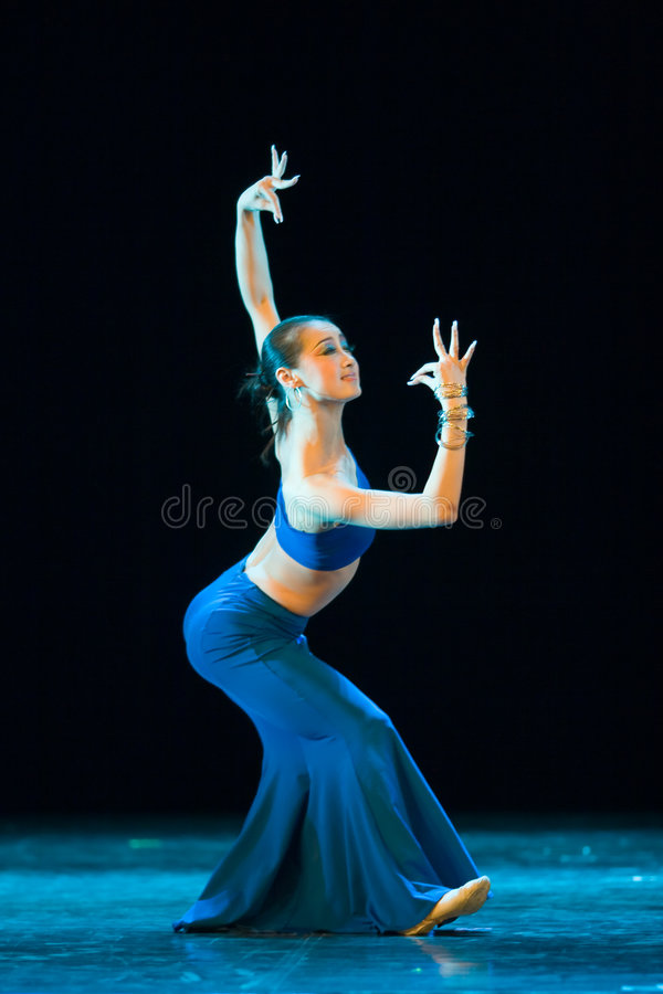 Folk dance of chinese stock photography