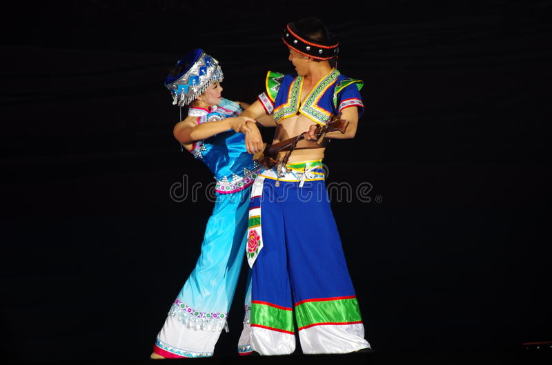 Folk dance of chinese royalty free stock image