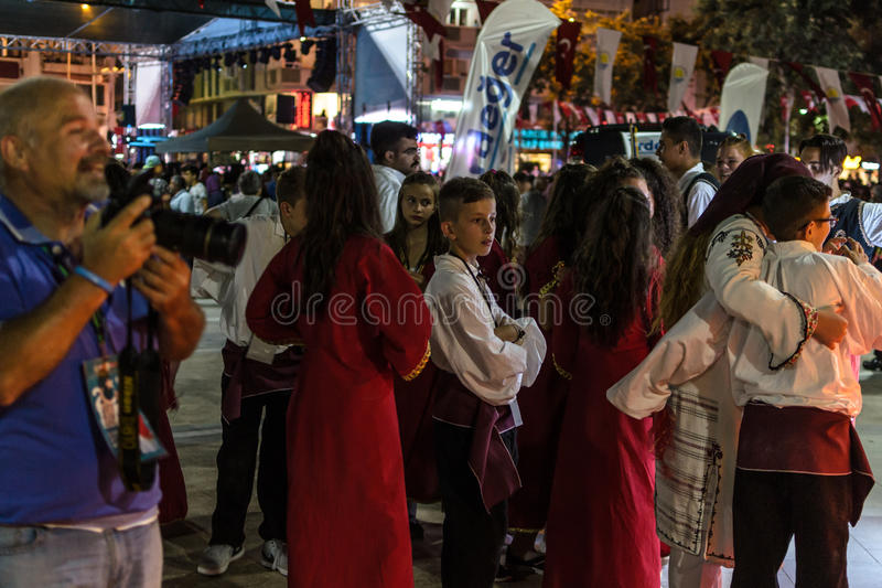 Download Folk Dance And Music Festival Editorial Stock Image - Image of boys, crowd: 96534584
