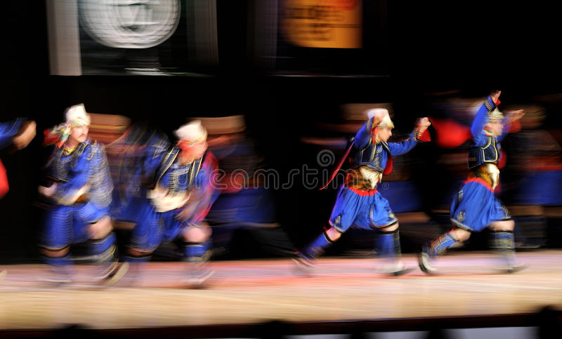 Folk dance performance royalty free stock photography