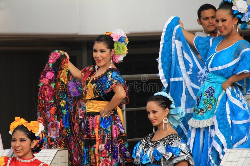 Folk Dancers 2 stock image