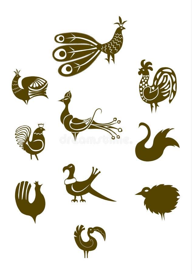 Folk elements vector illustration