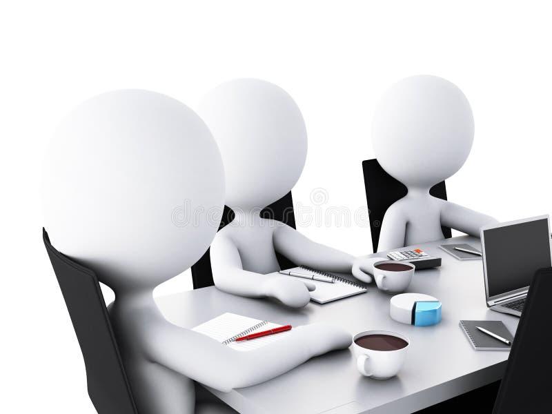folk för affär 3d i en kontorsmötesrum vektor illustrationer