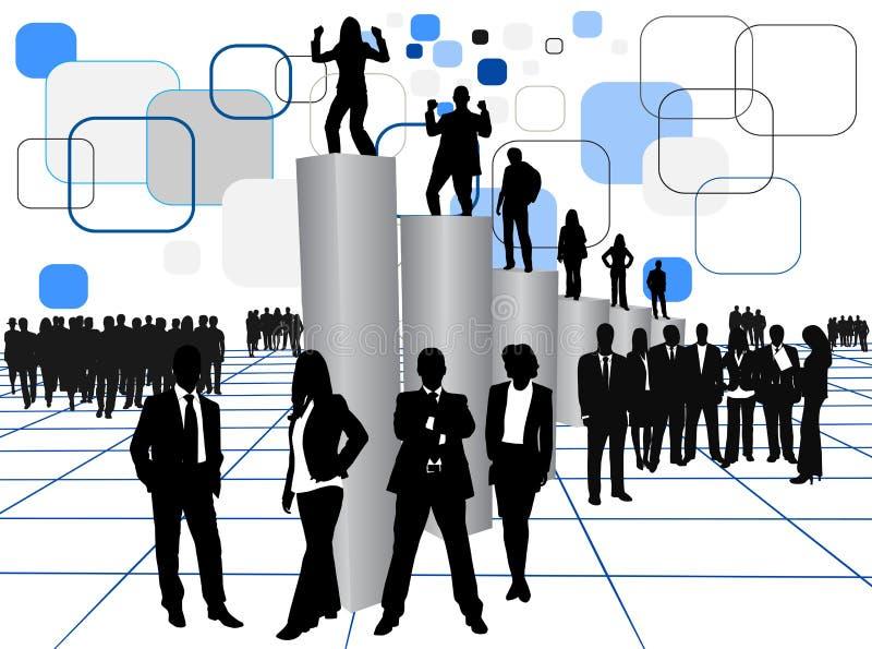 folk för affärsgraf stock illustrationer