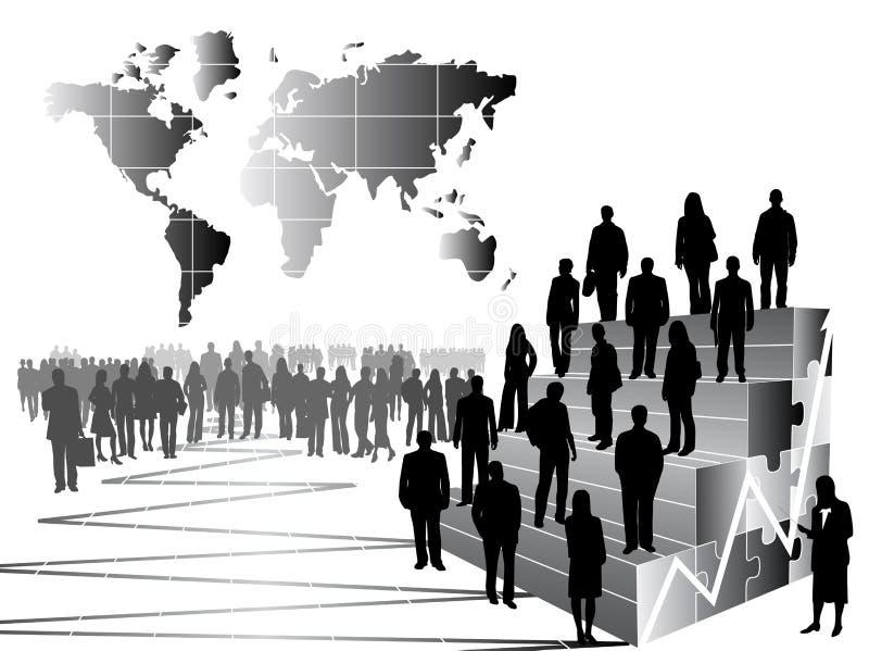 folk för affärsgraf vektor illustrationer