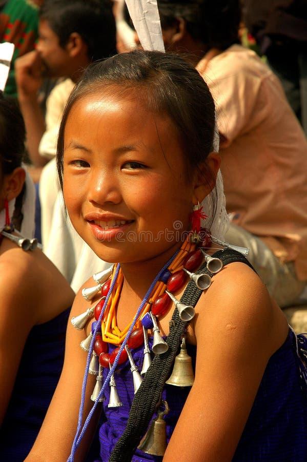 folk för india landnagaland royaltyfri bild