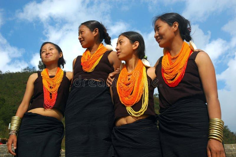 folk för india landnagaland royaltyfria foton