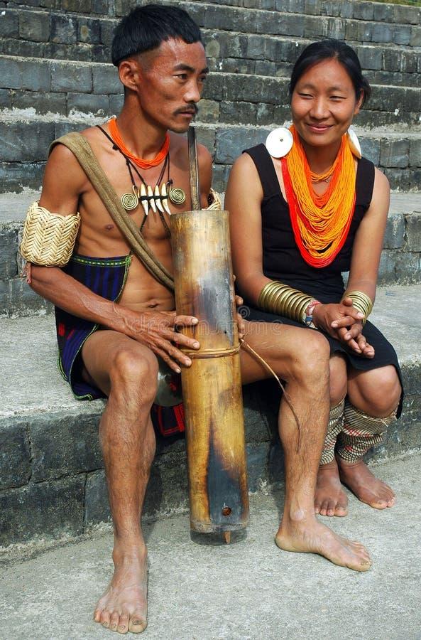 folk för india landnagaland arkivbild