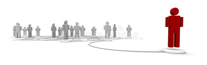 folk för nätverk för kommunikationssammanlänkningar royaltyfri illustrationer