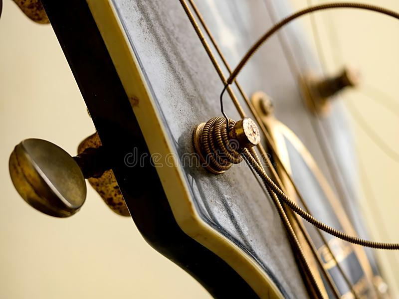 Folk guitar stock photo