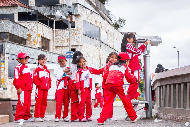 Folk i Ecuador royaltyfri bild