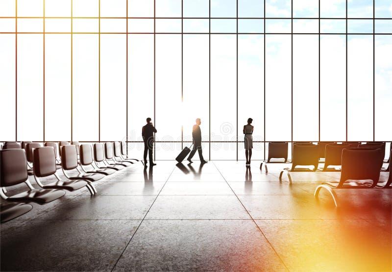Folk i flygplats royaltyfri fotografi