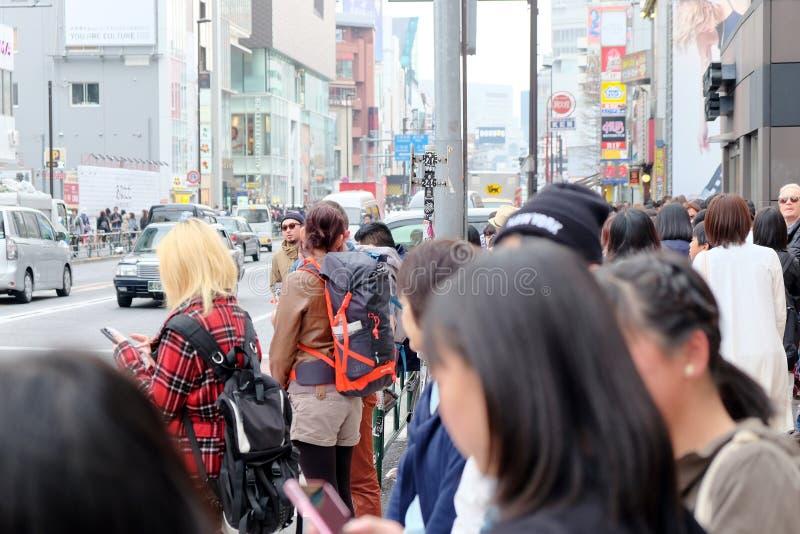 Folk i Harajuku arkivbilder