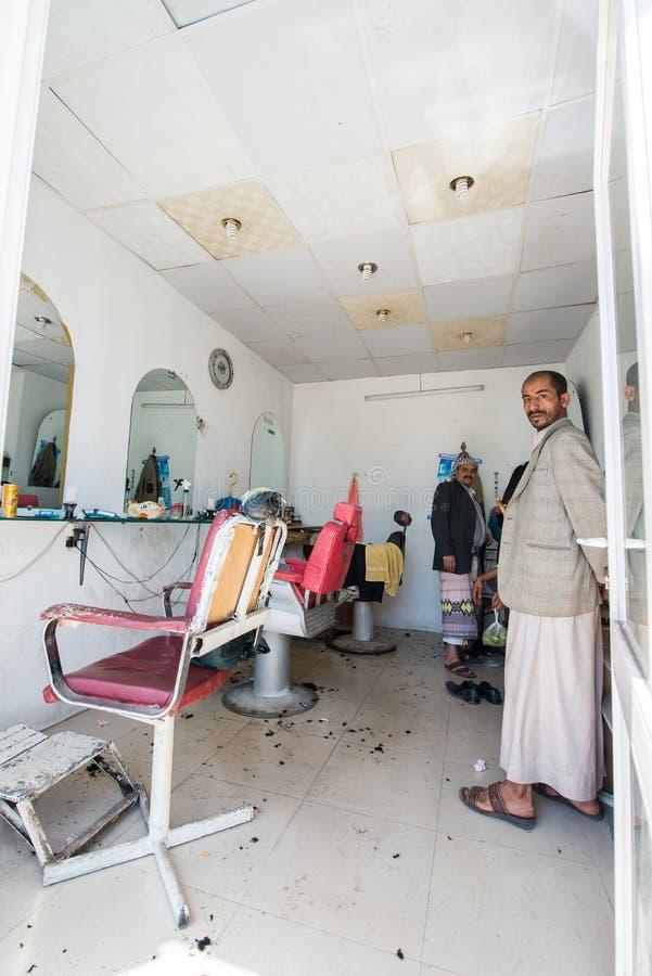 Folk i Sana'a, Yemen arkivfoton