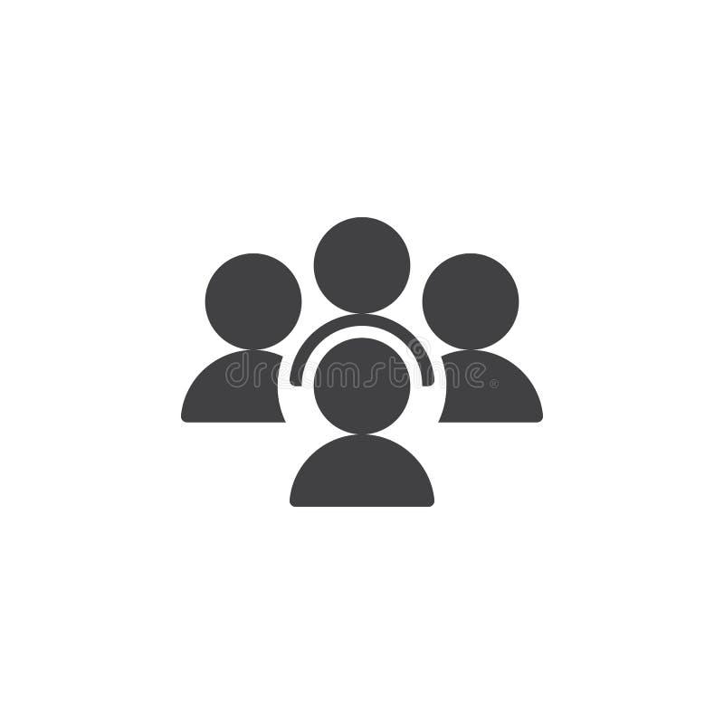 Folk konferenssymbolsvektor, fyllt plant tecken, fast pictogram som isoleras på vit stock illustrationer