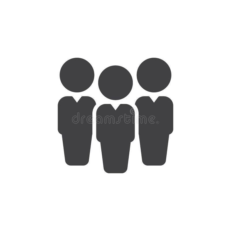 Folk ledarskapsymbolsvektor, fyllt plant tecken, fast pictogram som isoleras på vit vektor illustrationer