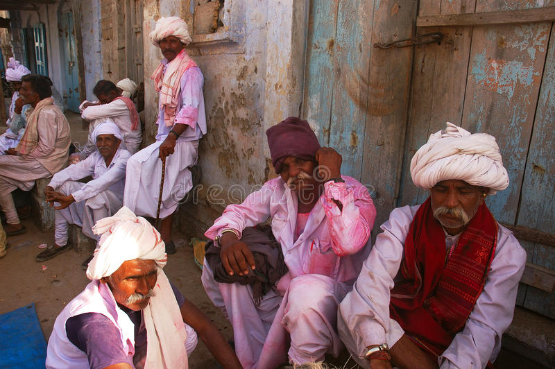 Folk life in Gujarat-India. INDIA,Gujarat,Dwarka, May 24, 2009, - Gujrati people with traditional dresses. Gujarat boasts a rich culture and heritage. Artistic royalty free stock photography