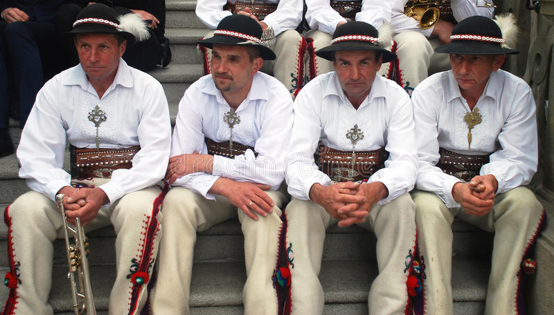 Folk musicians on St. Stanislaus Day. Each year at the beginning of May, Catholics of Poland celebrate the memory day of patron saint of Poland and city of royalty free stock images