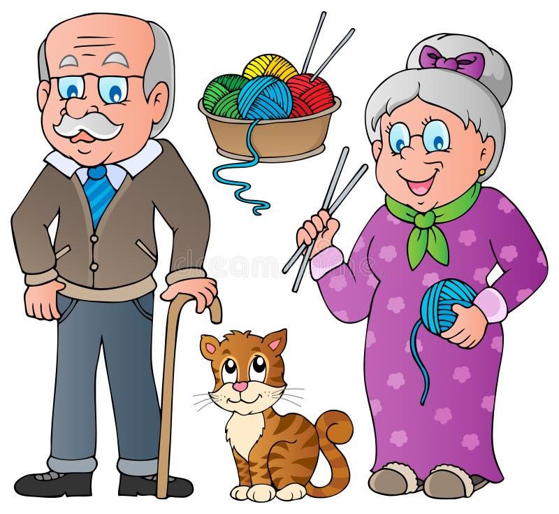 Folk- och familjsamling   stock illustrationer