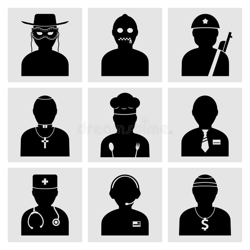 Folk ockupationsymboler vektor illustrationer