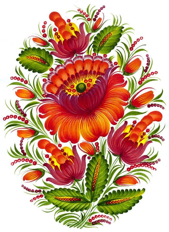 Folk ornament vector illustration