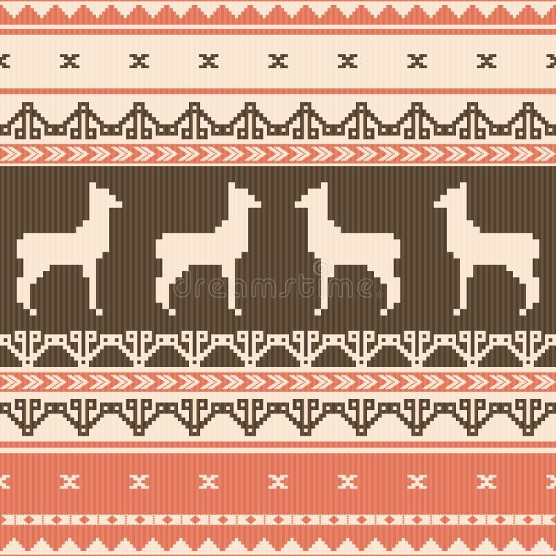 Folk ornamental pattern vector illustration